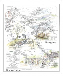 O.S. Maps part of a series mapping the canals and rivers of the UK & Wales.