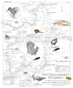 Nottinghamshire Wildlife Waterways Map